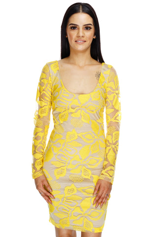 Anita Lace Dress - Yellow