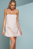 Kenny Satin Mini Dress - Pink