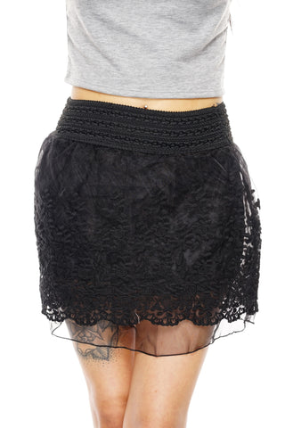 Wynne Lace Skirt - Black - WantMyLook