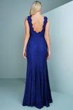 Daniella Lace Gown - Blue - WantMyLook