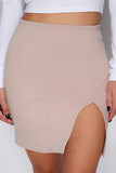 Emer Mini Skirt - Mocha - WantMyLook