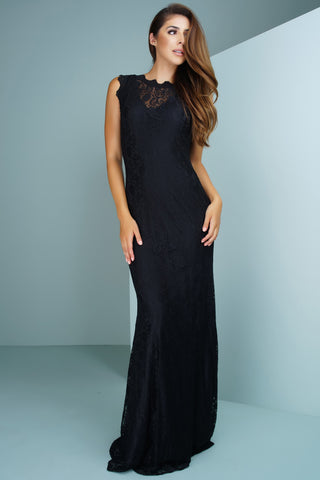 Daniella Lace Gown - Black