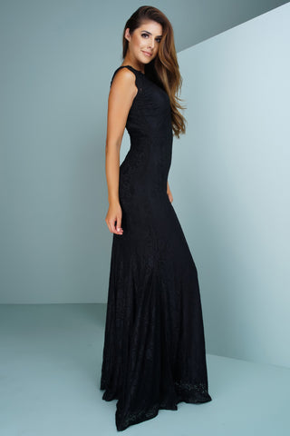 Daniella Lace Gown - Black - WantMyLook