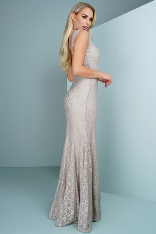 Daniella Lace Gown - Champagne - WantMyLook