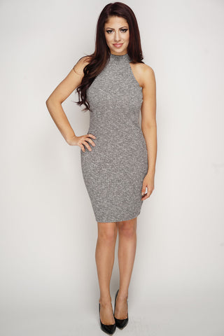 Tricia Knit Dress - Grey - WantMyLook