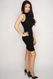 Tricia Knit Dress - Black - WantMyLook