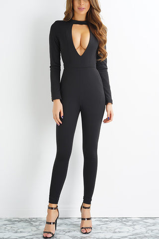 Nautical Jumpsuit- Black