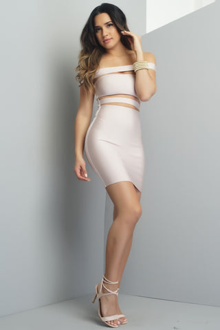 Samia Bandage Mini Dress - Blush