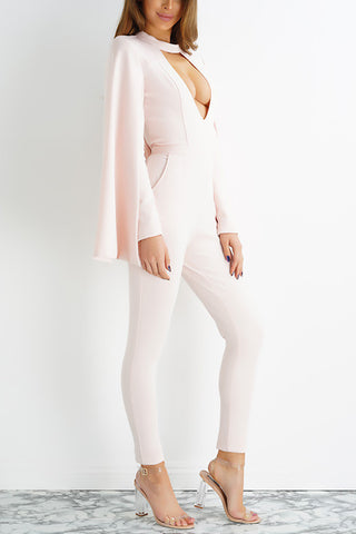 Olivia Jumpsuit - Baby Pink