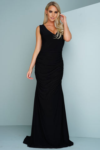 Kendra Sleevless Evening Gown - Black