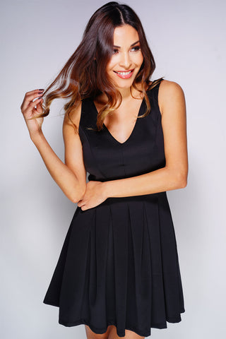 Victoria Dress - Black - WantMyLook