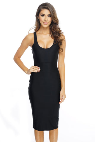 Vanessa Dress - Black - WantMyLook