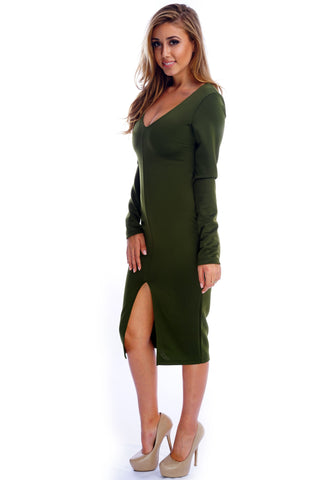 Josephine Dress - Olive - WantMyLook