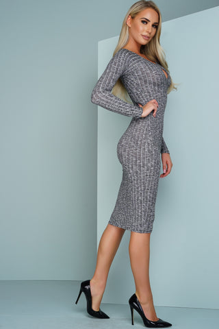 Bella Dress Long Sleeve - Grey