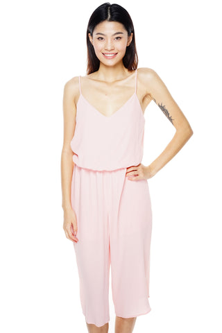 Whirlwind Cropped Jumpsuit - Pink - WantMyLook