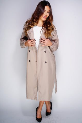 Eliza Trench Coat - Khaki