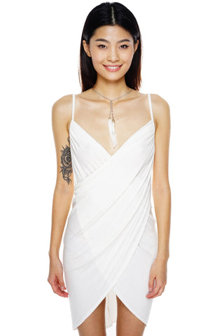 Vivian Wrap Dress - White