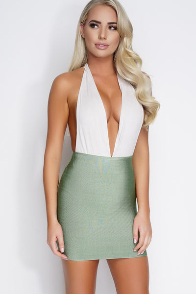Halle Bandage Mini Skirt - Sage