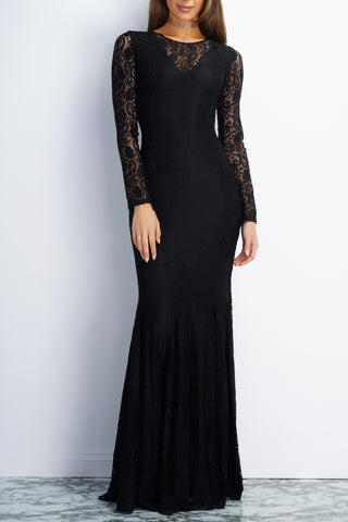 Eleanor Lace Gown - Black - WantMyLook