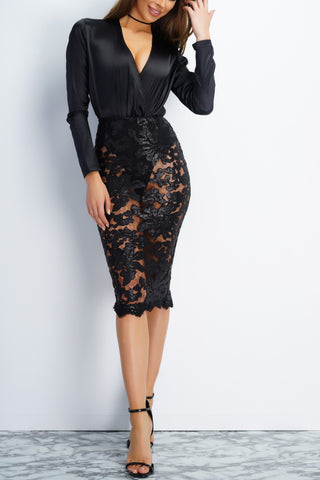 Iliana Skirt - Black - WantMyLook