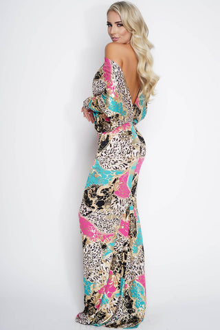 Taylor Gown - Jungle Print