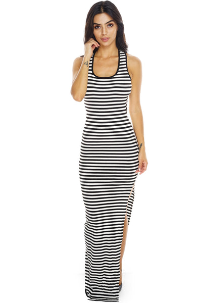 Borderline Maxi Dress - Black/White - WantMyLook