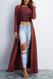 Yanna Long Duster Coat- Marsala - WantMyLook