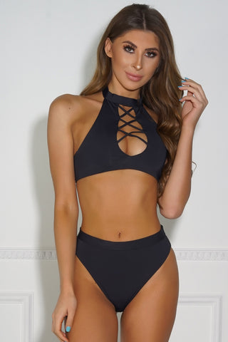 By The Pool Bikini Bottom - Black