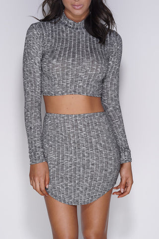 Bella Set - Grey - WantMyLook
