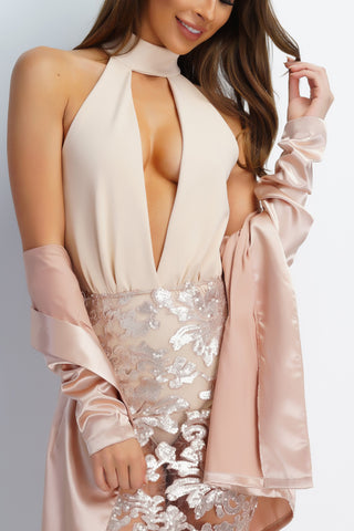 Addiction Bodysuit - Nude