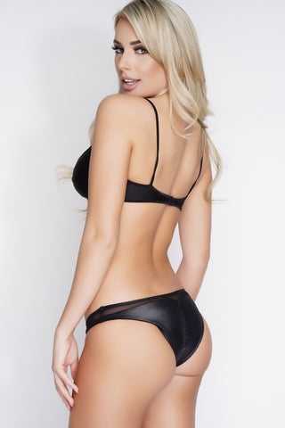 Maggie Mesh Swim Bottoms - Black - WantMyLook
