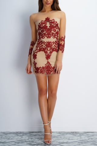 Haute Mesh Dress - Red