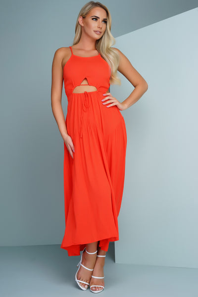 Ambri Maxi Dress - Orange - WantMyLook