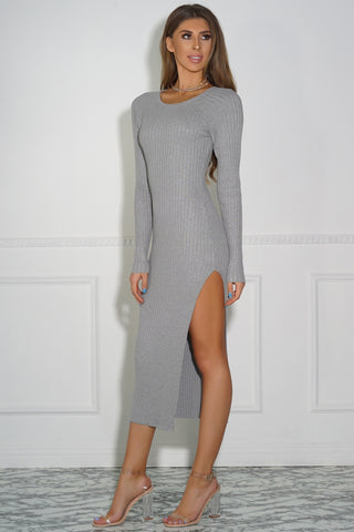 Felicia Knit Dress - Grey