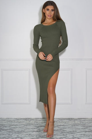 Felicia Knit Dress - Olive