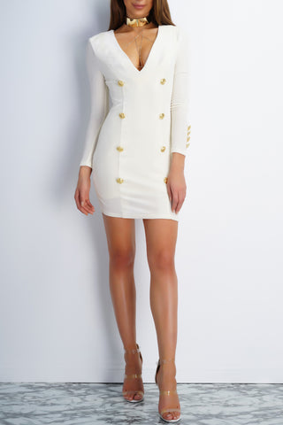 Charlize Dress - White