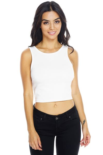 Cropped Tank - White - WantMyLook