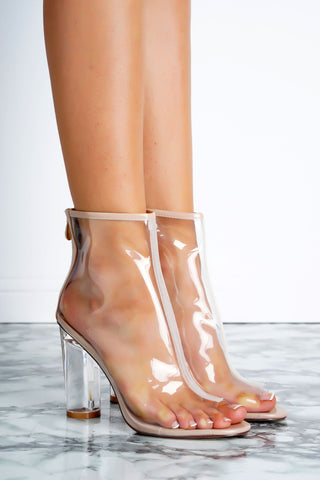Benny Perspex Booties - Transparent - WantMyLook
