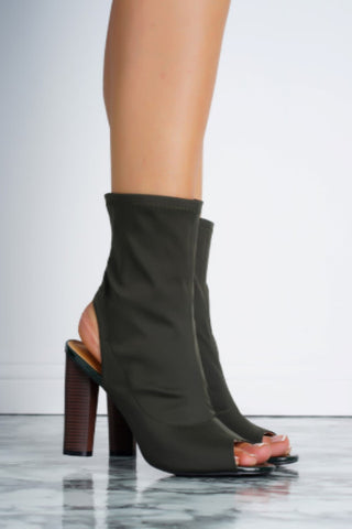 Constance Booties - Olive