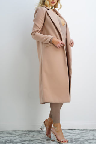 Miya Long Coat - Sand