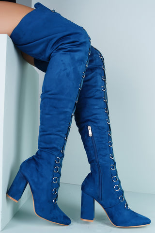 Tisa Ring Heeled Boots - Peacock