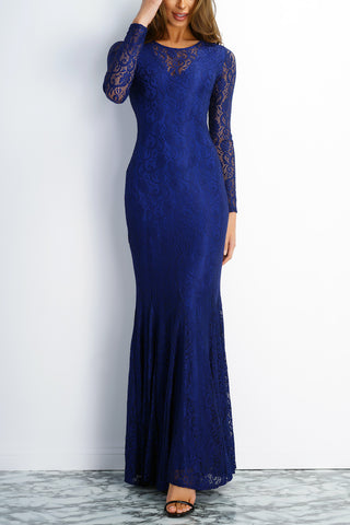 Eleanor Lace Gown - Blue - WantMyLook