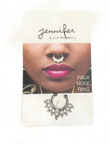 Faux Septum Ring - Silver