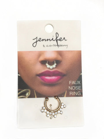 Faux Septum Ring - Gold