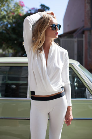 Elaine Wrap Top - Cream