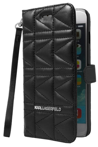 Karl Lagerfeld Kuilted Booktype Case - Black