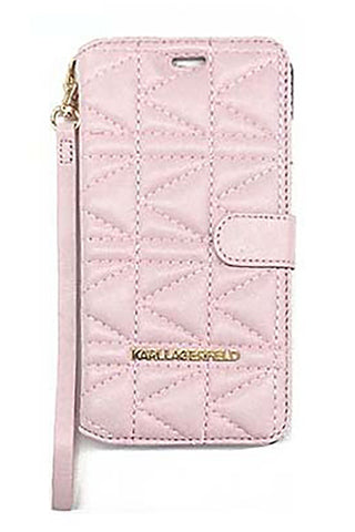 Karl Lagerfeld Kuilted Booktype Case - Pink