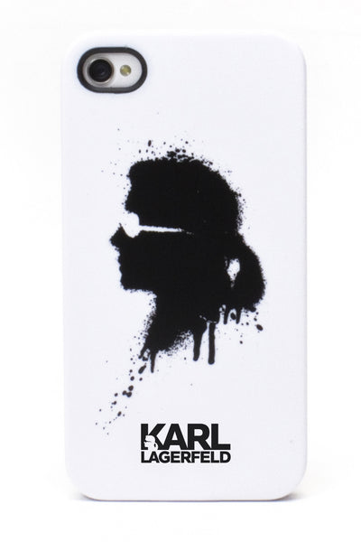 Karl Lagerfeld Graffitti Hard Case - White