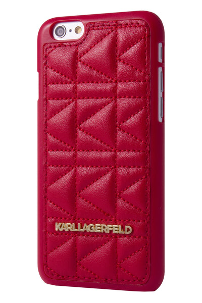 Karl Lagerfeld Kuilted Hard Case - Red