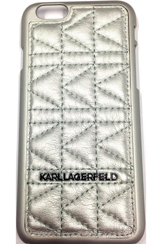 Karl Lagerfeld Kuilted Hard Case - Silver
